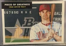 2007 Bowman Heritage Chad Tracy Game-Used Bat Relic
