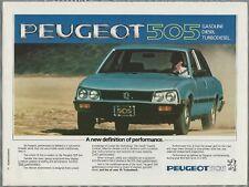 1981 PEUGEOT 505 advertisement, PEUGEOT 505 Turbo