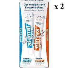 2 x Aronal & Elmex day/night toothpaste (4x75ml)