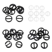 10Pcs Women Simple Round Scarf Ring Scarves Buckle Holder Clips Accessories