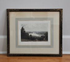 """Antique Aquatint Engraving """"View From Richmond Hill"""" - Published 1828 by R.Acker"""