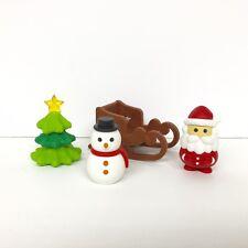 Iwako Japanese Erasers 4pcs Set (Christmas Tree, Snowman, Santa Claus, Sleigh)