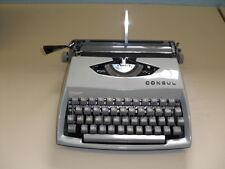 CONSUL alte Reise Schreibmaschine Mod. 231.2 hellblau 60er Jahre Nostalgie