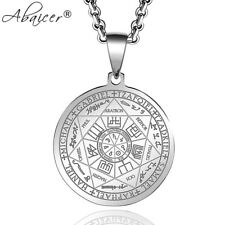 316L Stainless Steel Seals Of The Seven Archangels Scriptures Pendant & Necklace