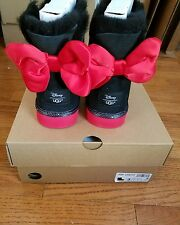 UGG DISNEY Park MINNIE MOUSE BLK SWEETIE BOW CLASSIC BOOTS Kids 4US/34EU 6W NIB