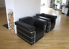 2 Stück Design Ledersessel ähnlich LC2 Le Corbusier *** Guter Zustand ***