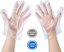 100-5000Pcs Large Food Service Gloves Home Plastic Clear PE Safety Work Gloves