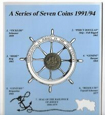 More details for (16) jersey 1991 £1 one pound coin - shipbuilding - percy douglas - bunc in pack