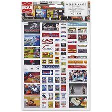 Busch 1138, Set de carteles, H0 Modelos en miniatura Bausatz 1:87