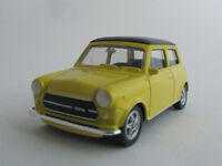 Welly Mini Cooper 1300 / Schwarz/Gelb / Druckgussmodel / Nex Models/1:60/OVP/Neu