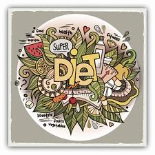 """Diet Retro Grunge Food Car Bumper Sticker Decal 5"""" x 5"""""""