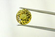 5.24 carat BRAZIL TRANSPARENT UNTREATED CHRYSOBERYL ROUND BRILLIANT