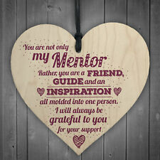 Mentor Friend Teacher Midwife Tutor Plaque Leaving Gift Wood Sign Thank You