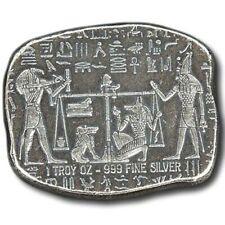 1 oz .999 Fine Silver Hieroglyphics Egypt Monarch Mint Relic Bar / Ingot