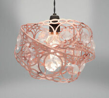 Country Club Metal Light Fitting Rose Gold Gem Wrap Contemporary Stylish Shade