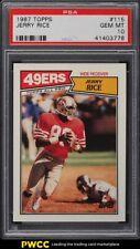 1987 Topps Football Jerry Rice #115 PSA 10 GEM MINT