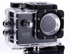 BLACK 1080p Action Sports Camera 30m Waterproof HD & Mounting Accesories!