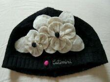 NWT CATIMINI Toddler Black Hat Bonnet SZ T4