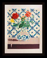 Bill Sullivan Flowers Serigraph Hand Signed Numbered ART