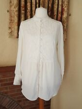 LADIES CREAM LACE YOKE TUNIC  TOP FROM NEXT SIZE  20 NEW SUMMER