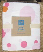 POTTERY BARN ~ BUBBLE DUVET ~ PINK w/ORANGE ~FULL /QUEEN ~BEDDING ~PB TEEN