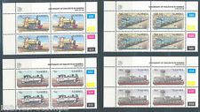 Namibia Trains Scott#774/77 Plate Blocks Of Four Mint Never Hinged