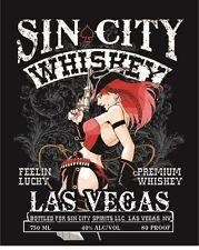 Sin City Whiskey Las Vegas Tin Metal Sign  2 - 13 Post Flat Rate $15