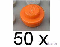 LEGO - 50 x Rundplatte orange 1x1 / Rundplatten / Plate Round / 4073 NEUWARE