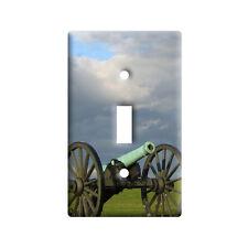 Civil War Canon - Plastic Wall Decor Toggle Light Switch Plate Cover
