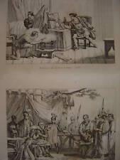 Gravure Maléfices de ROBERT D'ARTOIS  Bourgeois CALAIS