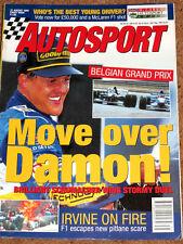 Autosport 31/8/95* BELGIAN GP - SPA F3000 - BRANDS F3 - SNETTERTON BTCC