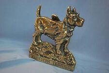 Brass Aberdeen Terrier con batacchio BELLISSIMO DESIGN recuperata/ricondizionate