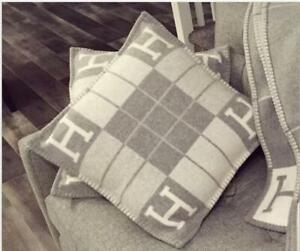 45CM*45CM H-Pillow Wool Cashmere bed Sofa cushion zipper closure