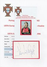 PAULO SOUSA PORTUGAL INTERNATIONAL 1991-2002 ORIGINAL HAND SIGNED CUTTING