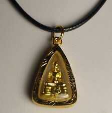 MINI WAT SOTHORN BUDDHA from WAT SOTHORN TEMPLE on NECKLACE + PHA YANT