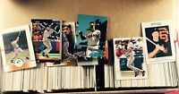 Collection Lot of 800 Assorted Jeff Kent Baseball Cards Years Companies