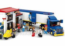 TRUCK LORRY Large Set 537 pcs City COMPATIBLE BRICKS Warehouse Scene Work Toy