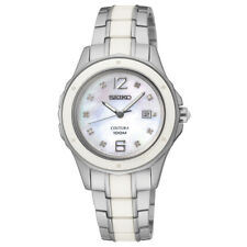 Seiko SXDE85 SXDE85P1 Coutura Ladies Ceramic Diamond Watch  RRP $895.00