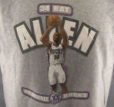 Milwaukee Bucks Ray Allen T-Shirt Youth Size 14-16 Youth L Kids NBA Gray