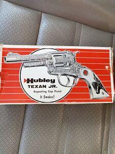 Vintage Hubley Texan Repeating Cap Pistol In Box