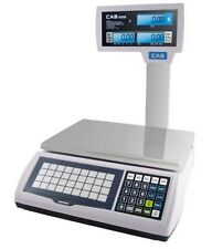 CAS S-2000 JR 60lb PRICE COMPUTING SCALE with POLE - LEGAL FOR TRADE LCD DISPLAY