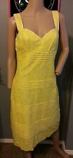 Lilly Pulitzer Yellow Spring Floral Eyelet Tiered Eyelet Dress 6