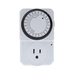 Island 120V Single 1 Outlet Analog Mechanical Timer - Lights, Fans Dehumidifiers