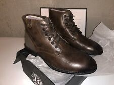 Vintage Foundry Mens Brown Leather Boots - Zion Lace Up Size 12
