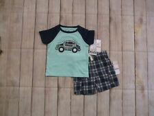 Kids Headquarters Baby Boys 2 Piece Shorts Outfit Size 12 Months Police Plaid