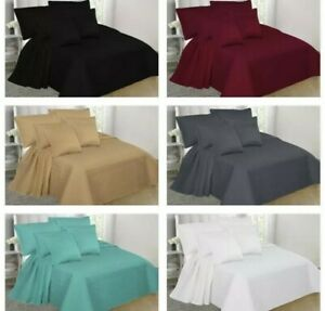 2/3PC Quilt SetBedding Bedspread W/Shams Coverlets Solid Twin Queen King Nena