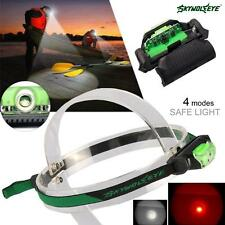 Skywolfeye  White + Red LED 4 Modes 5500 LM Headlamp Headlight Head Torch LUS WN