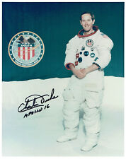 Charlie DUKE Apollo 16 LMP Astronaut Signed Autograph 10x8 Photo 6 COA AFTAL