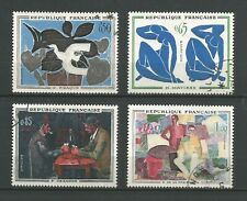 France 1961 tableaux modernes Y&TN°1319 & 1322 4 timbres oblitérés /T6812