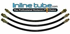 55-56 Chevy Gmc Truck Front Rear Drum Brake Rubber Flex Hose Line Set Kit 3pc (Fits: Truck)